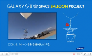 [GALAXY SII] SPACE BALLOON PROJECT: 解説ビデオ